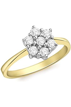 Carissima Gold Women's 18 ct Gold 0.50 ct Diamonds Cluster Ring - Size L