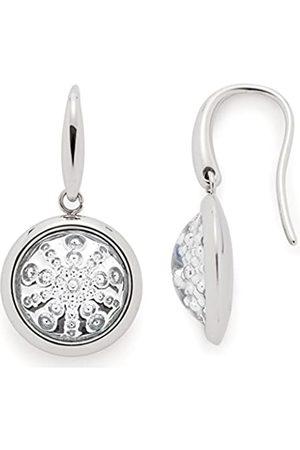 Leonardo JEWELS BY LEONARDO women earrings Scoppio stainless steel/silver colored glass transparent brisur star 016380
