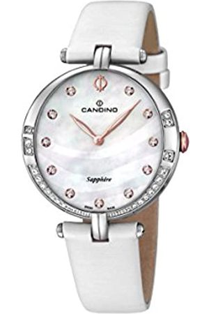 Candino Women's Quartz Watch with Mother of Pearl Dial Analogue Display and Leather Strap C4601/2