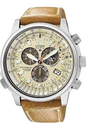 Citizen Men's Analogue Quartz Watch with Leather Strap AS4020-44B