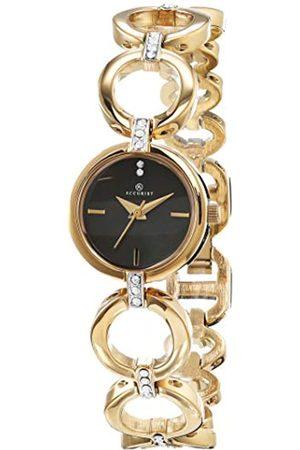 Accurist Womens Analogue Classic Quartz Watch with Brass Strap 8255