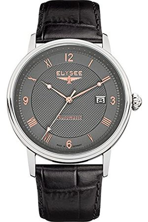 ELYSEE Men's Analogue Automatic-self-Wind Watch with Leather Calfskin Strap 77006