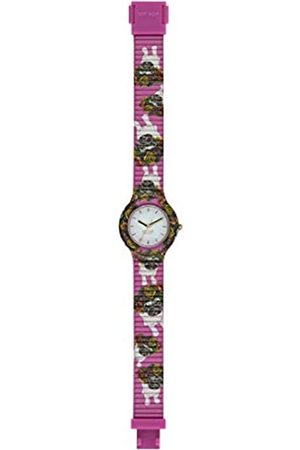 Hip HIP-HOP Ladys' Animals Addicted Watch Collection Mono-Colour White dial 3 Hands Quartz Movement and Silicon Fuchsia Strap HWU0879