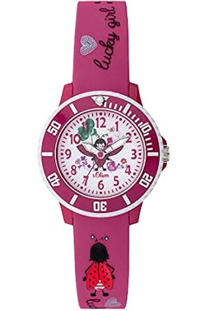 s.Oliver Girls Analogue Quartz Watch with Silicone Strap SO-3726-PQ