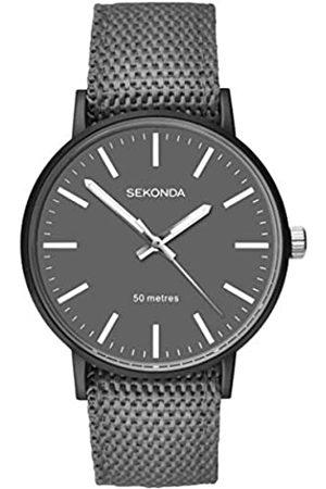 Sekonda Mens Analogue Classic Quartz Watch with Nylon Strap 1493.27