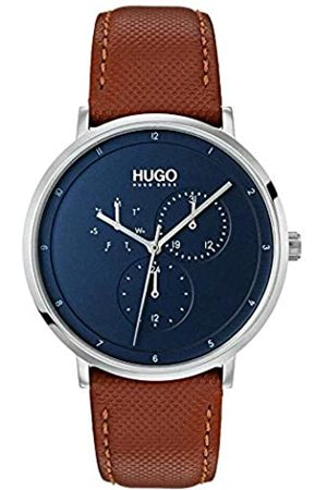 HUGO BOSS Mens Multi dial Quartz Watch with Leather Strap 1530032