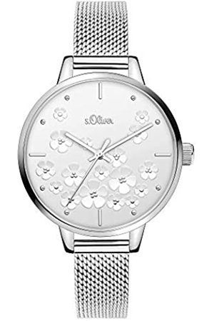 s.Oliver Womens Analogue Quartz Watch with Stainless Steel Strap SO-3837-MQ