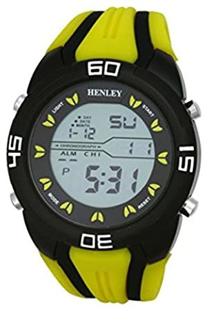 Henley Digital Sports Chronograph Watch on Silicone Strap Men's Digital Watch with Dial Digital Display and Silicone Strap HDG0219