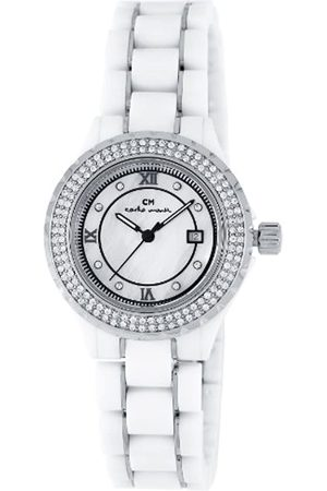 Carlo Monti Ladies Quartz Watch with Mother Of Pearl Dial Analogue Display and Ceramic Bracelet CM201-186A