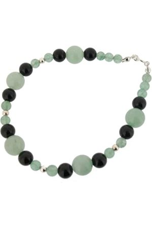Earth Aventurine and Black Onyx Beaded Bracelet at 19cm in Length