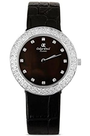 Oskar Emil Women'sQuartz Watch with Dial Analogue Display and Leather Strap Juliette