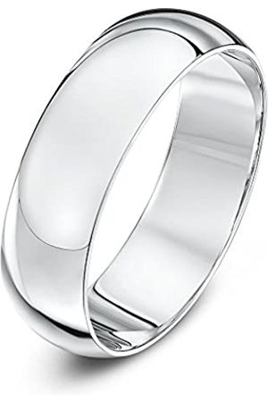 THEIA Unisex 14ct Super Heavy D Shape Polished 6mm Wedding Ring - Size Y