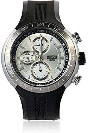Munich Unisex Adult Analogue Quartz Watch with Rubber Strap MU+114.1E