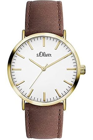 s.Oliver Unisex Quartz Watch Analogue Display and Leather Strap SO-3103-LQ