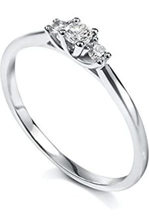 TOUS Women 18 k (750) White Gold Round Diamond Rings
