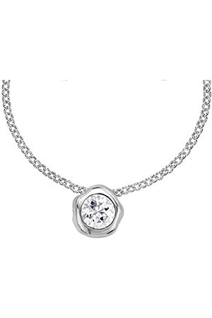Dower & Hall Dewdrop 6mm White Topaz Beaten Nugget Pendant on Trace Chain of Length 46cm