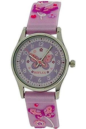 Reflex Girls Analogue Classic Quartz Watch with Rubber Strap REFK0012