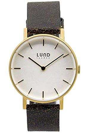Lund London Unisex Adult Analogue Classic Quartz Watch with Leather Strap 9040