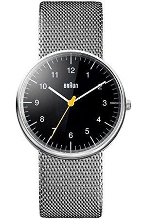 von Braun Mens Analogue Classic Quartz Watch with Stainless Steel Strap BN0021BKSLMHG