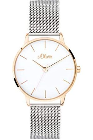 s.Oliver Womens Analogue Quartz Watch with Solid Stainless Steel Strap SO-3701-MQ