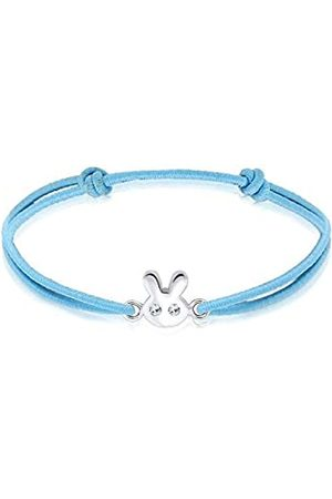 Elli Children's 925 Sterling Adjustable Kids Girls Rabbit Bracelet of Length 16 cm