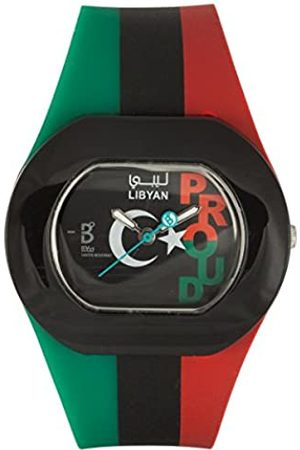 B360 Unisex Quartz Watch Analogue Display and Silicone Strap B Proud Libyan