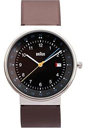 von Braun Unisex Quartz Watch with Dial Analogue Display and Gold Leather 66558 BN0142BKBRG