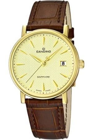 Candino Men's Quartz Watch with Dial Analogue Display and Leather Strap C4489/3