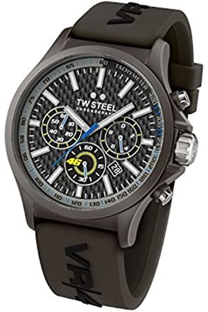 TW steel Men's Quartz Watch with Dial Chronograph Display and Silicone Strap TW935