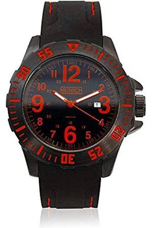 Munich Unisex Adult Analogue Quartz Watch with Rubber Strap MU+122.1A
