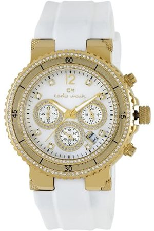 Carlo Monti Ladies Quartz Watch with Mother Of Pearl Dial Analogue Display and Silicone Strap CM202-286