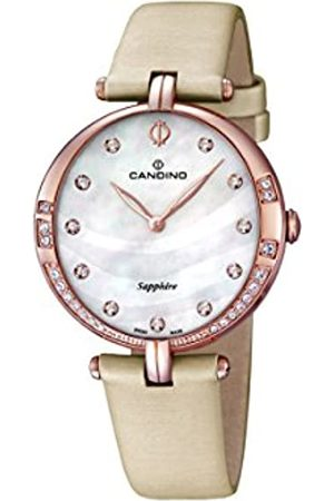 Candino Women's Quartz Watch with Mother of Pearl Dial Analogue Display and Leather Strap C4602/1