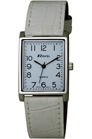 Ravel Large Case Fashion on PU Strap Women's Quartz Watch with Dial Analogue Display and Plastic Strap R0120.04.1