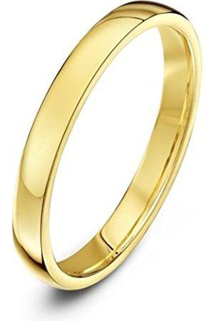 THEIA Unisex Heavy Court Shape Polished 18 ct Gold 2.5 mm Wedding Ring - Size J