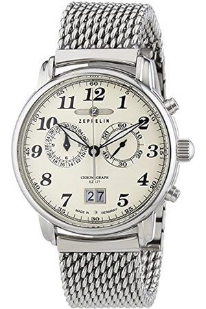 Zeppelin Men's Watch LZ127 Graf XL Chronograph Quartz Stainless Steel 7684 M5
