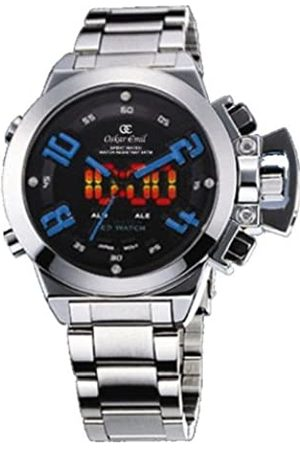 Oskar Emil Sigma Blue Sports Quartz Watch for Men with Dial Analogue - Digital Display and Stainless Steel Bracelet Sigma Blue