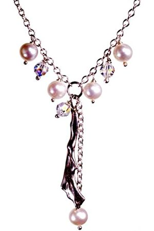 Jane Davis BCH 007 Pearl and Crystal Charm style necklace with coral 42 cm
