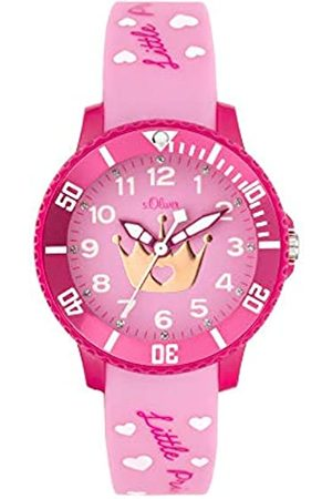 s.Oliver Girl's Analogue Quartz Watch with Silicone Strap SO-3999-PQ