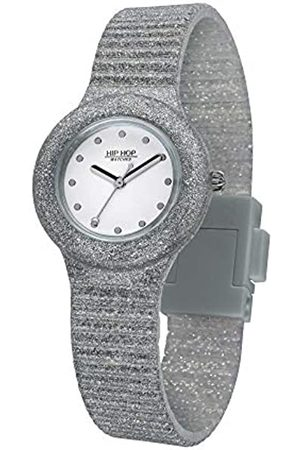 Hip Ladys' Sparkling Mania Watch Collection Mono-Colour White dial 3 Hands Quartz Movement and Silicon Strap HWU0967