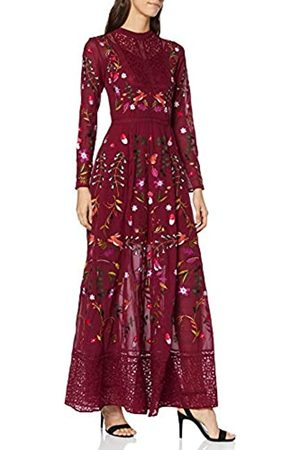 Frock and Frill Women's Gryffyn Embroidered Lace Maxi Party Dress