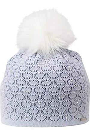 Giesswein Merino Beanie Elfenstein Pastel ONE - Noble Ladies hat Made of Merino Wool & Cashmere, Fluffy Faux Fur Bobble, Warm Fleece Lining