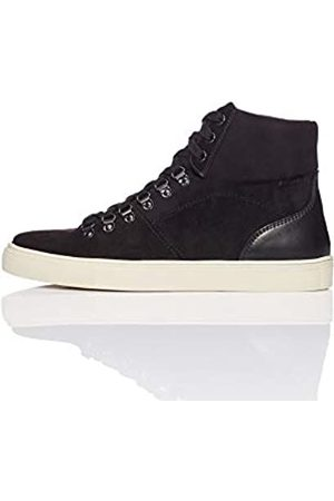 FIND Men's Hiking Style Hi-Top Suede-Look Trainers