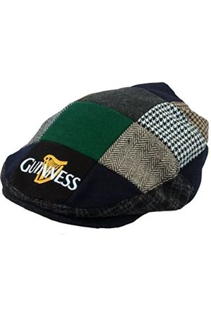 Guinness Official Merchandise Harp Embroidered Flat Cap Men's Hat / /Cream Large