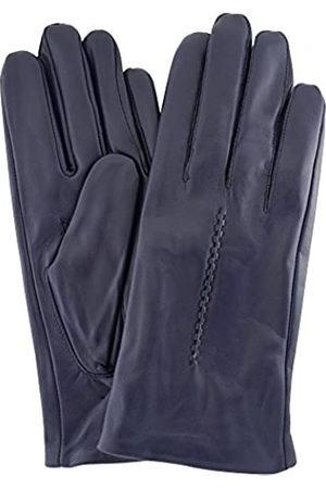 "Snugrugs Womens Butter Soft Premium Leather Glove with Woven Stich Design & Warm Fleece Linning - Navy - Small (6.5"")"