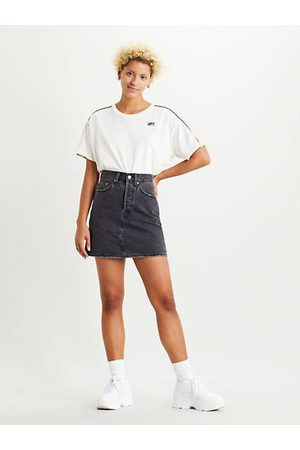 Levi's High Waisted Deconstructed Skirt