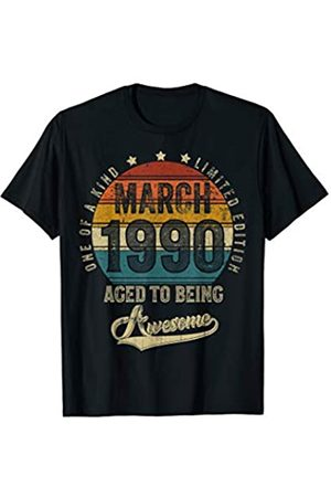 Vintage All Original Parts Birthday Gift Idea Vintage March 1990 Designs 30 Years Old Tee 30th Birthday T-Shirt