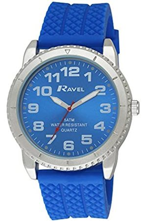 Ravel Men's 5ATM Quartz Watch with Dial Analogue Display and Silicone Strap R5-20.6G