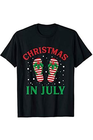 Christmas Stocking Stuffers Christmas in July Flip Flops Funny Beach Summer T-Shirt