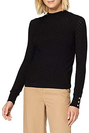 Warehouse Pointelle Yoke High Neck Jumper Sweater Femme