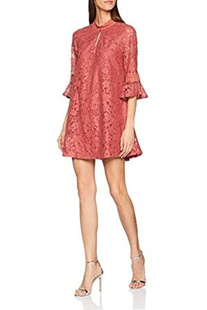 Little Mistress Women's Helene Lace Shift Dress Party, (Terracotta)